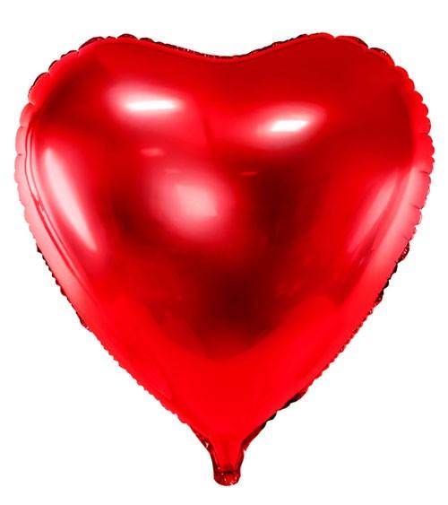 XXL-Herz-Folienballon - rot - 72 cm