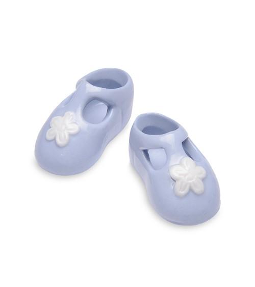 Babyschühchen aus Porzellan - blau - 1 Paar