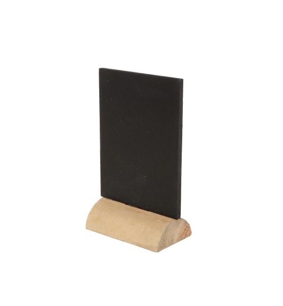 Kleine Kreidetafel auf Holzsockel - 5,5 x 9 cm