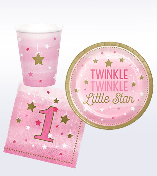 "Geburtstags-Deko-Set ""One Little Star - Girl"" - 32-teilig"
