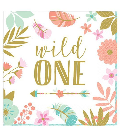 "Servietten ""Boho Birthday Girl"" - Wild One - 16 Stück"