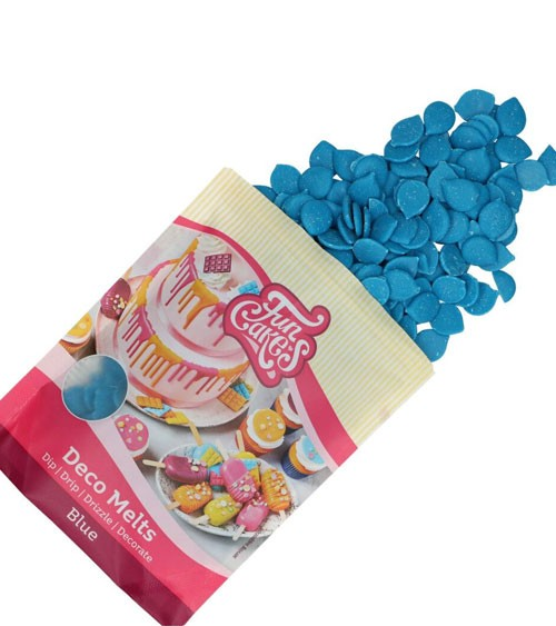 Funcakes Deco-Melts - blau - 250 g