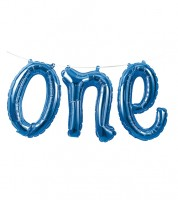 "Folienballon-Girlande ""ONE"" - blau"