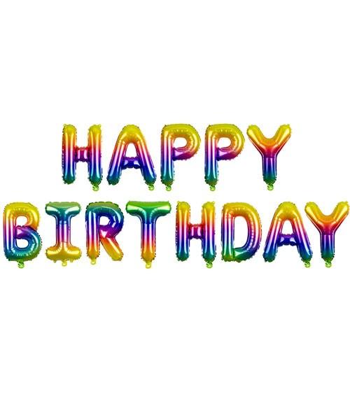 "Folienballon-Set ""Happy Birthday"" - rainbow - 340 x 35 cm"