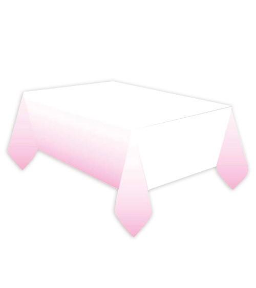 Papier-Tischdecke - rosa ombre - 120 x 180 cm
