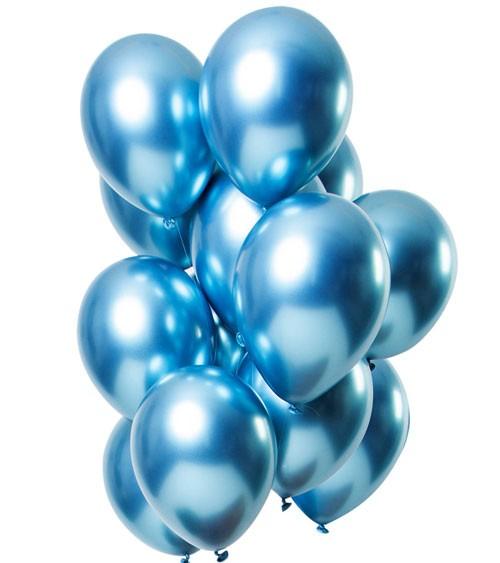 "Luftballons ""Mirror Effekt"" - blau - 12 Stück"