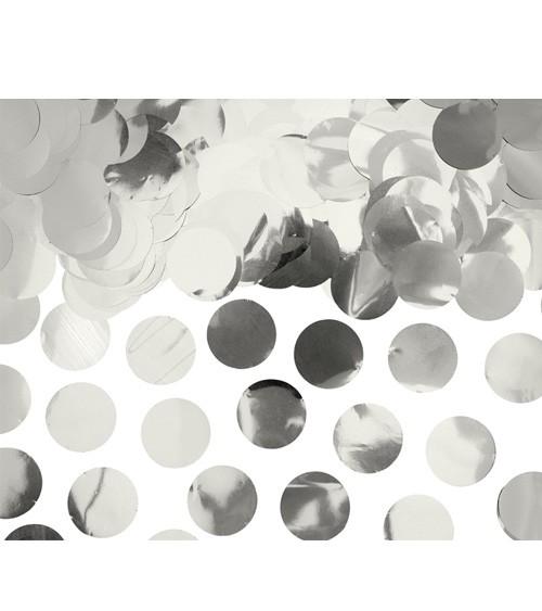 Konfetti-Kreise - metallic silber - 15 g