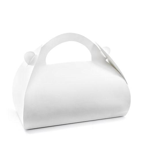 Weiße Kuchenboxen - 16 x 8,5 x 9,5 cm - 10 Stück