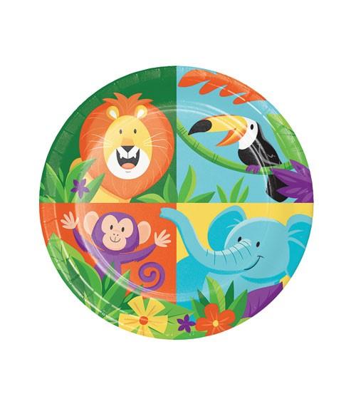 """Kleine Pappteller """"Dschungel Safari"""" - 8 Stück"""