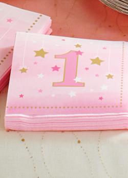 Niedliche Servietten Zur Babyparty Taufe 1 Geburtstag