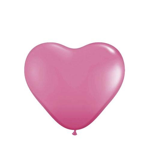 Herz-Luftballons - 15 cm - pink - 100 Stück