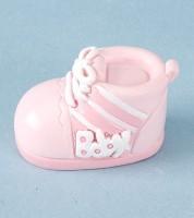 Kleiner Babyschuh aus Kunststein - rosa