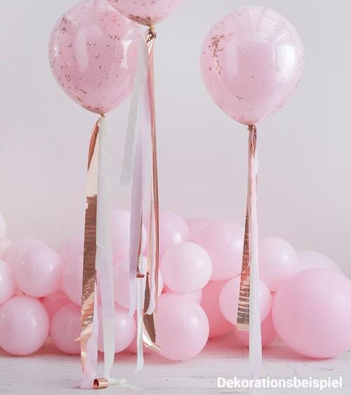 Kreppband-Set für Ballons - rosegold, rosa, creme - 14 m