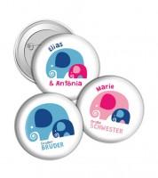 """Dein Button """"Geschwister"""" - Elefant"""