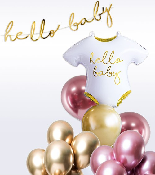 "Babyparty Ballon-Set ""Glossy Pink"" - 26-teilig"