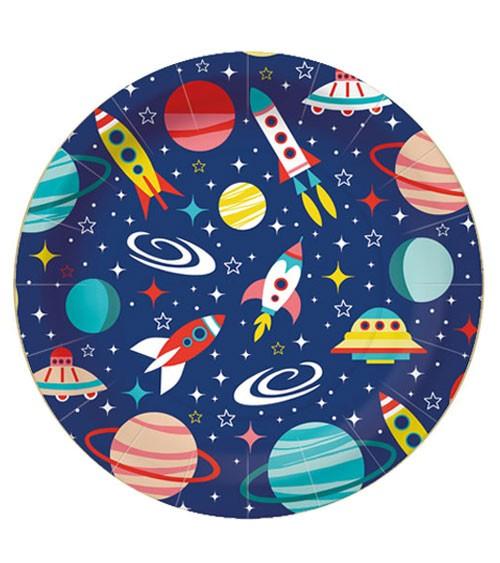 """Pappteller """"Space"""" - 10 Stück"""