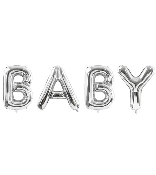 "XL-Folienballon-Set ""Baby"" - silber - 262 x 86 cm"