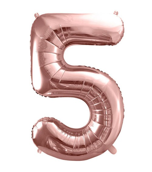 "SuperShape Folienballon ""5"" - rosegold"