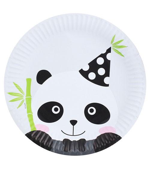 """Pappteller """"Panda"""" - 6 Stück"""