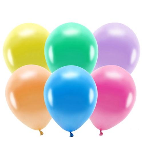 Metallic-Ballons - Farbmix - 30 cm - 100 Stück