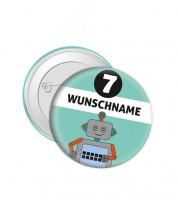 """Dein Button """"Roboter"""" - Wunschtext"""