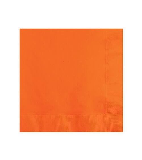 Cocktail-Servietten - orange - 50 Stück