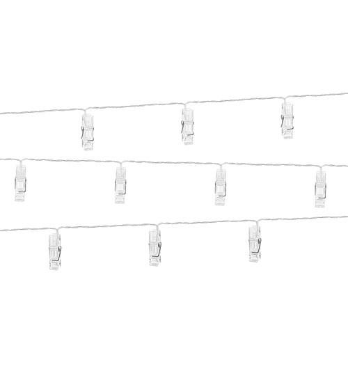 LED-Lichterkette mit Fotoclips - transparent - 1,4 m