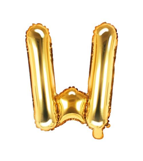 "Folienballon Buchstabe ""W"" - gold - 35 cm"