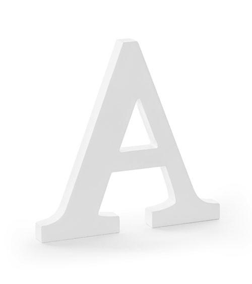 Deko-Buchstabe aus Holz - weiß - 20 cm
