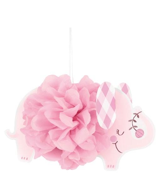 """DIY-Pom Pom-Deko """"Floral Elephant"""" - rosa - 3-teilig"""