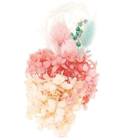 Trockenblumen-Set - pastell türkis - ca. 30 cm