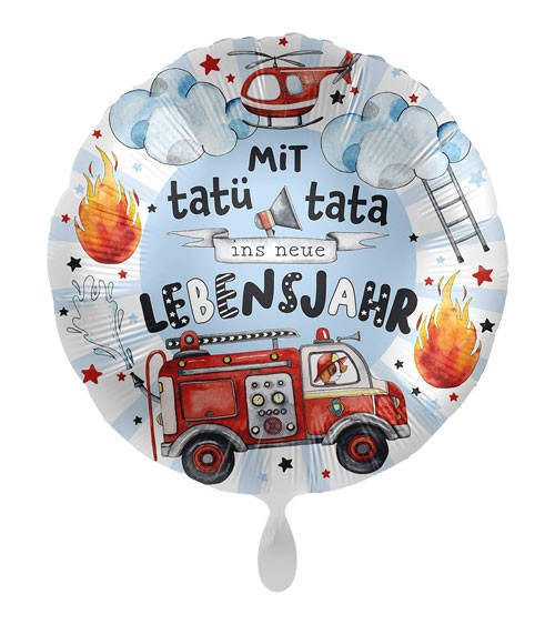 "Folienballon ""Happy Fire Engine"" - Tatü Tata"