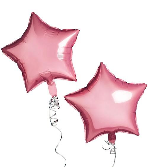 Stern-Folienballon - metallic pink - 2 Stück