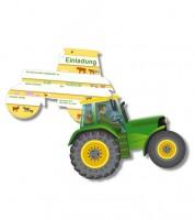 "Einladungskarten ""Traktor"" - 6 Stück"