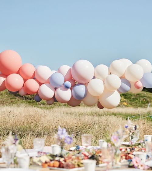 DIY Ballongirlande - blush, nude, hellblau - 60-teilig