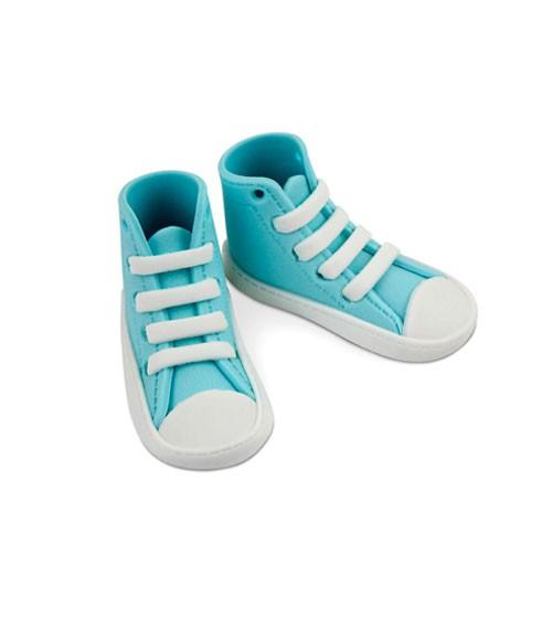 "Essbare Kuchendekoration ""Sneaker"" - hellblau - 1 Paar"