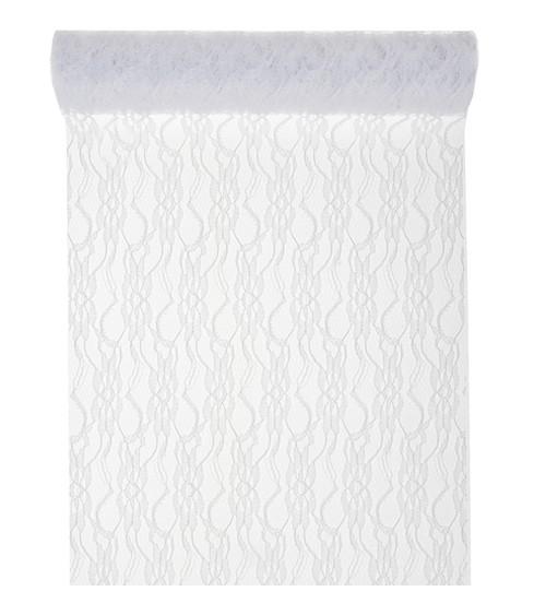 Spitzen-Tischläufer - weiß - 30 cm x 5 m