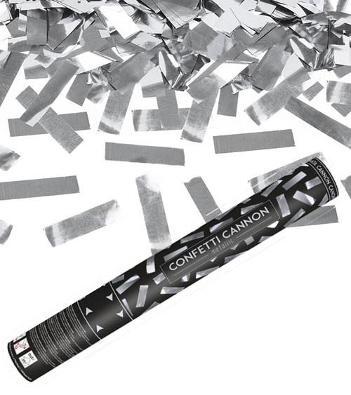 Konfetti-Kanone - silber - 40 cm