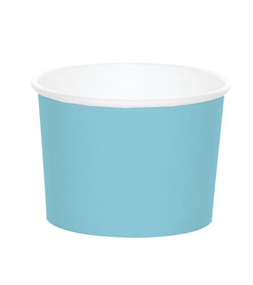 Eisbecher - pastellblau - 6 Stück