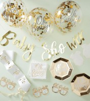 "Babyparty Deko-Set ""Oh Baby"" - 55-teilig"
