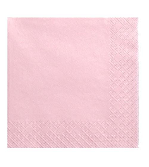 Servietten - rosa - 20 Stück