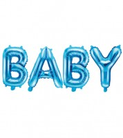 "Folienballon-Set ""BABY"" - blau - 35 cm"
