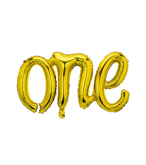 "Script-Folienballon ""One"" - gold - 66 x 37 cm"