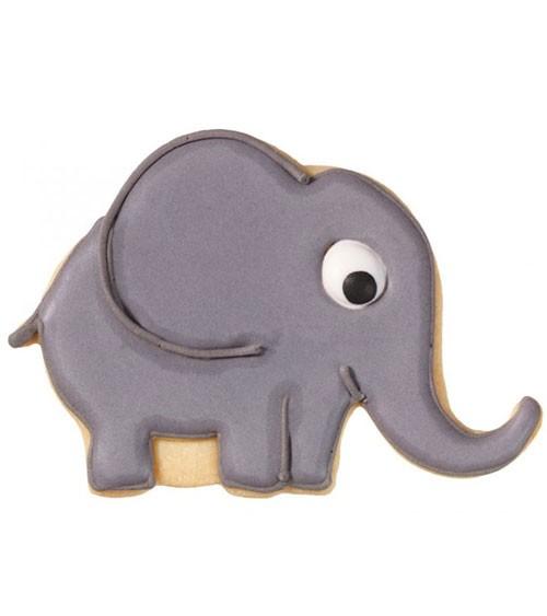 """Ausstechform mit Innenprägung """"Elefant"""" - 10,5 cm"""