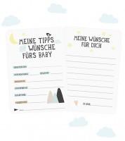 """Baby Shower-Karten """"Tipps und Wünsche fürs Baby"""" - 12 Stück"""
