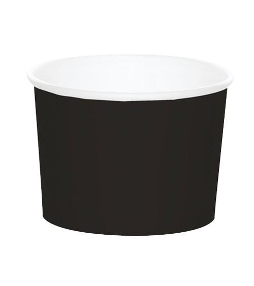 Eisbecher - schwarz - 6 Stück