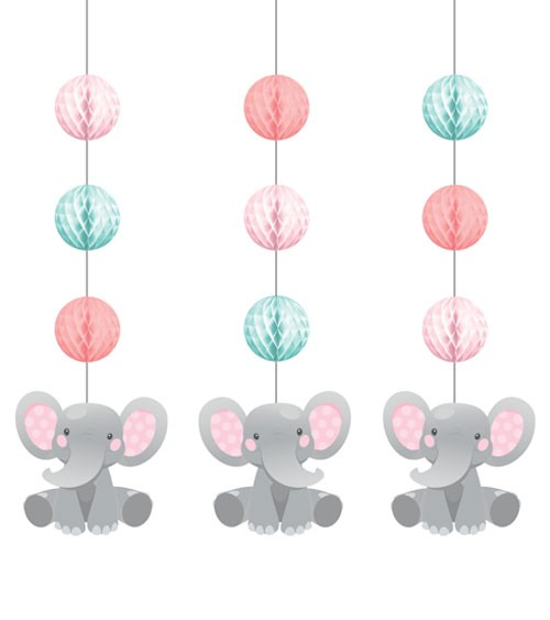 "3er-Motivgirlande ""Little Elephant - Girl"""