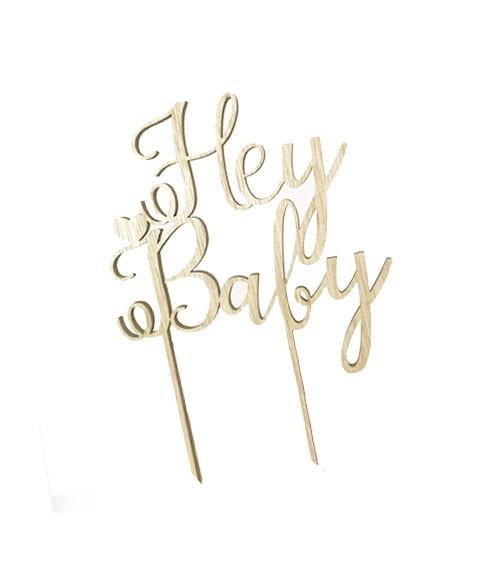 "Holz-Tortenstecker ""Hey Baby"""