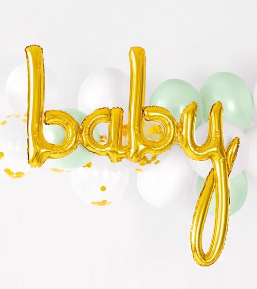 "Ballon-Set ""Baby"" - gold, mint & weiß - 26-teilig"