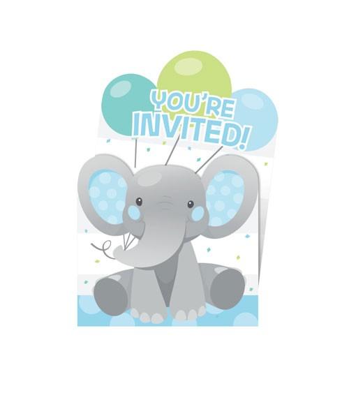 """Einladungskarten """"Little Elephant - Boy"""" - 8 Stück"""